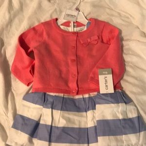 9 month Dress with Cardigan